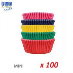 "Mini Baking Cases ""Multi Coloured""  x 100"