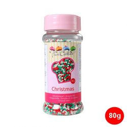 """Mini-billes en sucre """"Nonpareils"""" - Vert-Blanc-Rouge"""