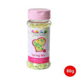 "Mini-billes en sucre ""Nonpareils"" - Blanc-Jaune-Vert"