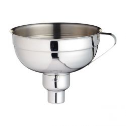 Stainless Steel Jam Funnel Ø 14cm + Adaptor