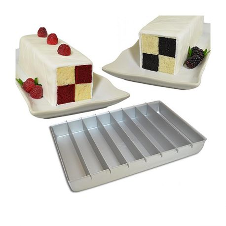 moule rectangulaire g teau damier battenberg cake fat daddio 39 s 20x30cm. Black Bedroom Furniture Sets. Home Design Ideas
