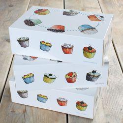 Boite en carton pour 6 Cupcakes