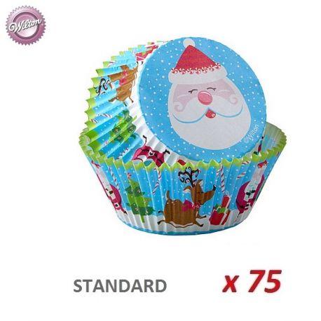 """Cápsulas cupcakes """"Santa Claus"""" x 75"""