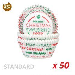 """Cápsulas cupcakes """"Merry Christmas"""" x 50"""