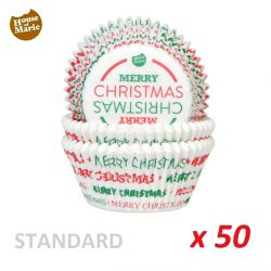 "Standard Baking Cases ""Merry Christmas""  x 50"