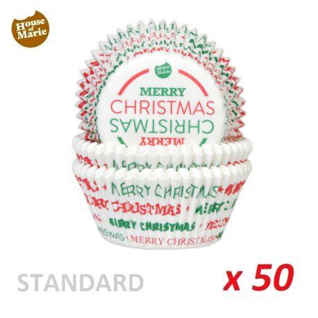 "Standard Baking Cases ""Merry Christmas""  x 50"