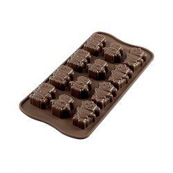 """Molde silicona para chocolates """"Robot"""""""