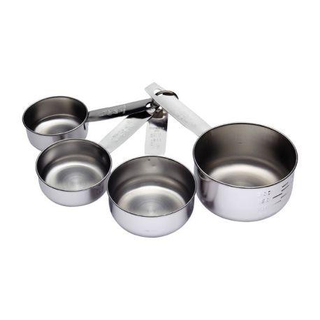 Stainless Steel Measuring Cup Set Kitchen Craft 60ml 250ml