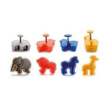 "4 Cookie Cutters with Ejector - ""Safari"""