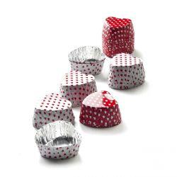 """Caissettes pour chocolat """"COEUR"""" x 36"""