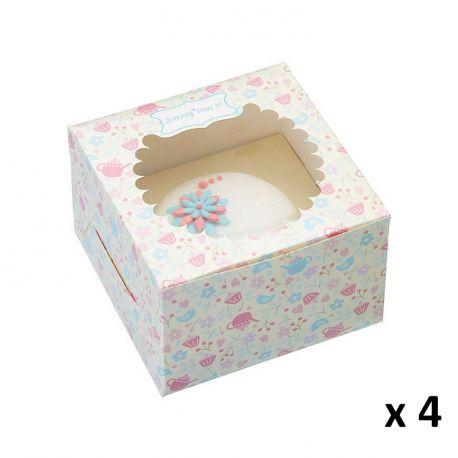 Boite en carton pour 1 Cupcake x 4 - KITCHEN CRAFT