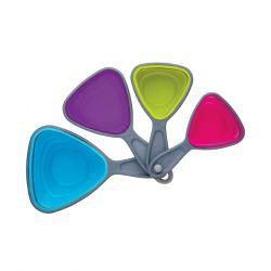 Set de 4 cazos medidores de plastico