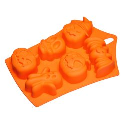 "6 Cavity Silicone Mold  ""Halloween"""