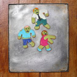 "Set 3 Cookie Cutters ""Zombie"""
