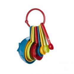 Set de 8 cucharas y tazas medidoras de plástico