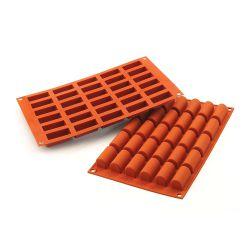 """Moule silicone """"Micro Bûche"""" - 30 cavités"""