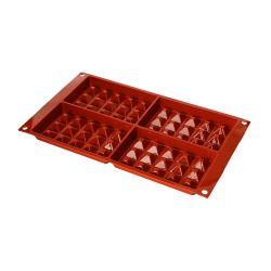 "4 Cavity Silicone Mold  ""Waffel"""