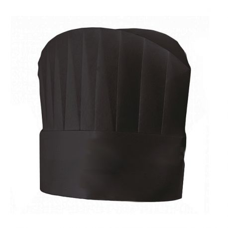 Disposable Chefs Hat - Round Top - BLACK