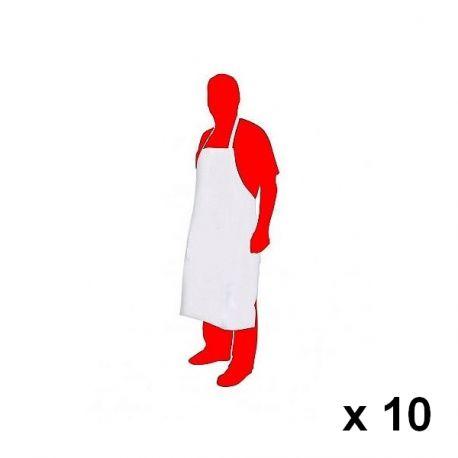 Delantal desechable x 10