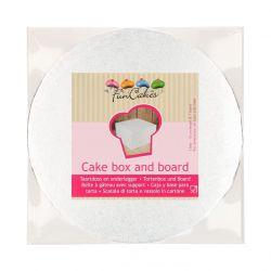 Caja blanca + base redonda - 25x25x15cm