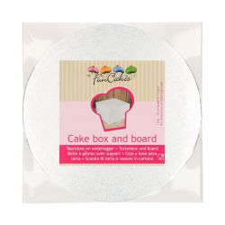 Boite pâtissière + carton rond - 30x30x15cm