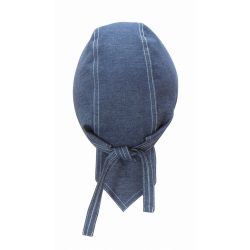 Toque - Bandana en denim bleu