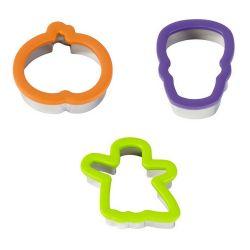 """Set de 3 cortadores Comfort Grip """"Halloween"""" - 11cm"""