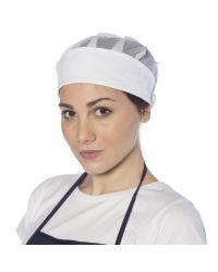 Coiffe blanche de cuisinière