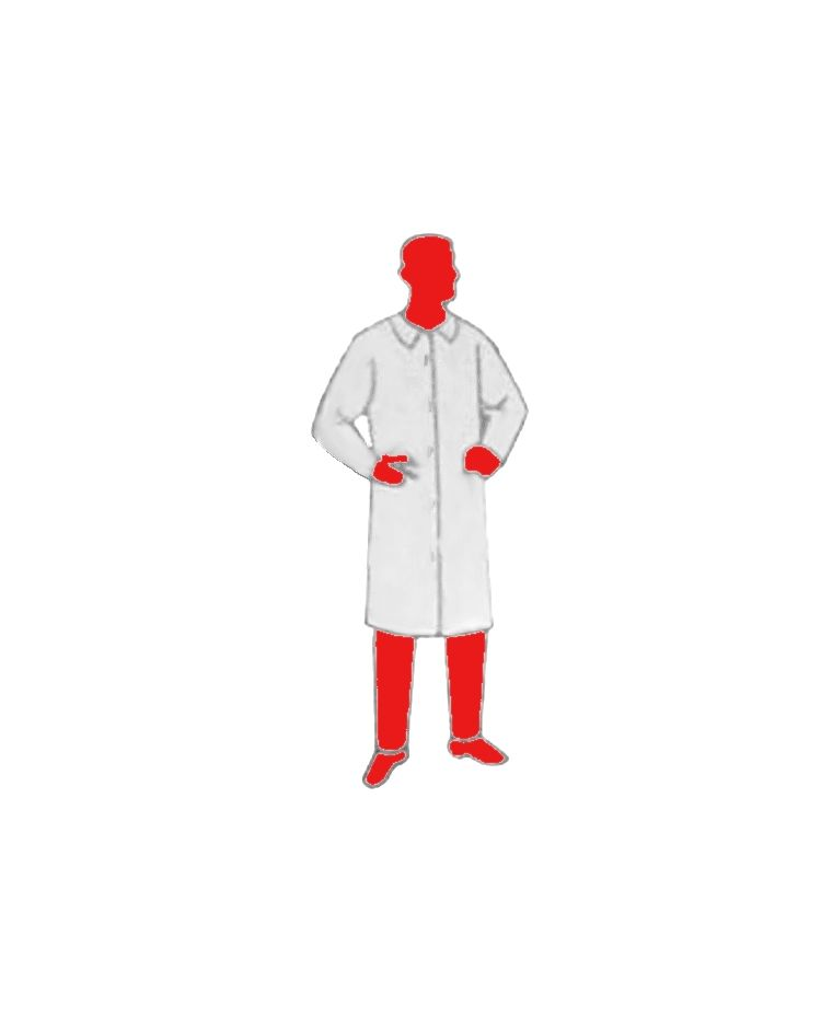 Non-Woven Disposable Lab Coat - ADULT