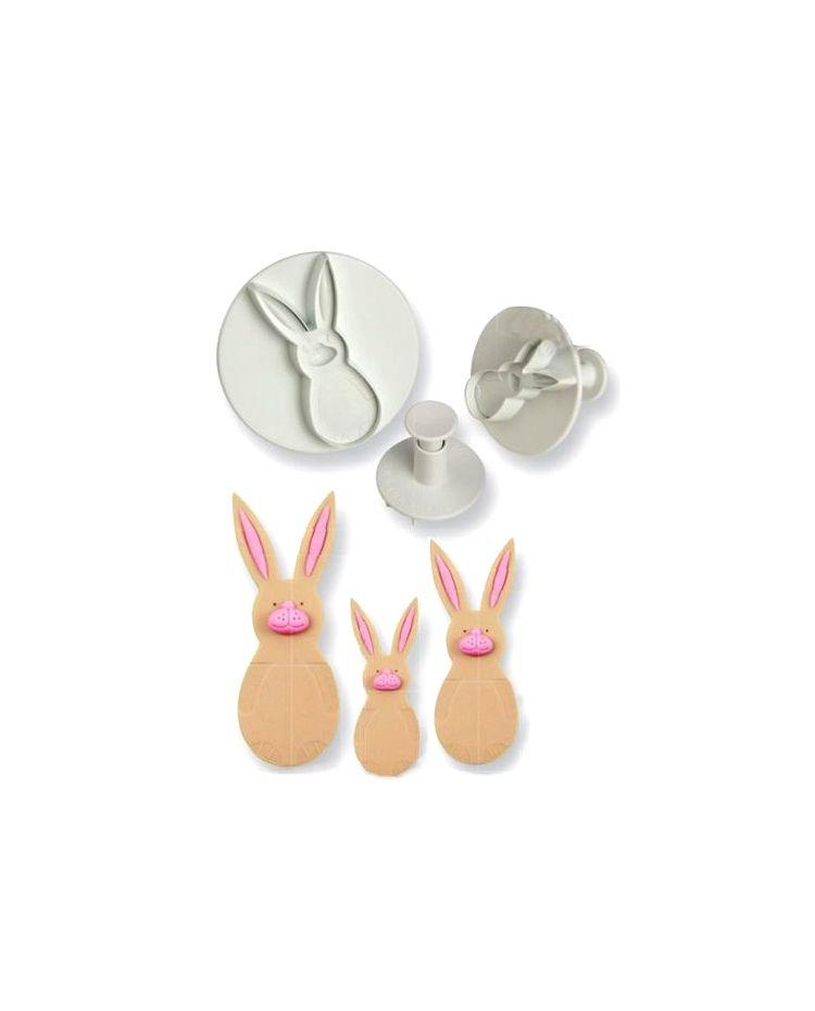 3 Cortadores con eyector - Conejo pequeño