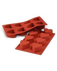 "8 Cavity Silicone Mold  ""Hearts"" - SILIKOMART"