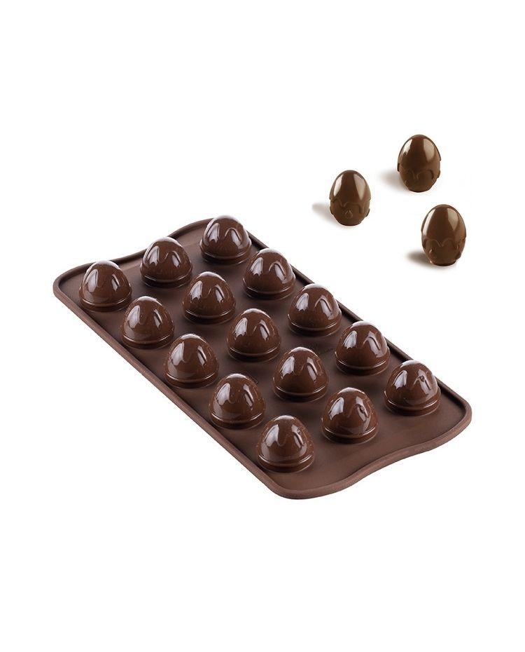 """Molde Silicona Para Chocolates """"Huevo de Pascua"""" - 11 x 21cm"""